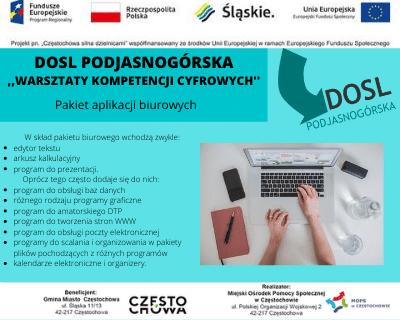 """DOSL Podjasnogórska. Warsztaty kompetencji cyfrowych. ,,Pakiet biurowy."""""""