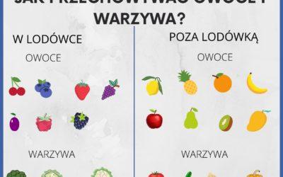 DOSL Dźbów. Zbilansowana dieta to podstawa. Jak przechowywać warzywa i owoce.