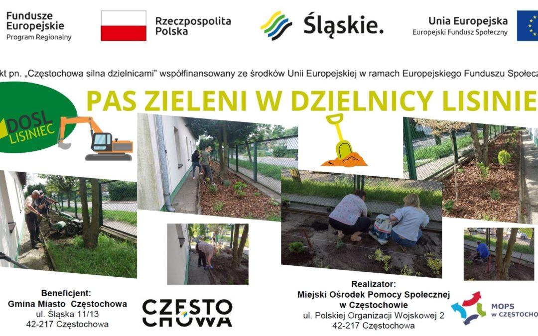 Pas Zieleni w dzielnicy Lisiniec